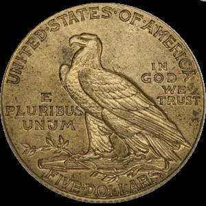 $5 Indian Gold Half Eagles (1908-1929)